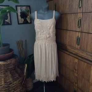 Free People Dress In Your Arms Cream Size Large